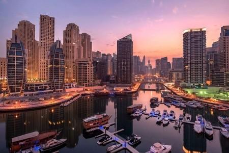 Spojené arabské emiráty Dubaj Jannah Marina Bay Suites 8 dňový pobyt Raňajky Letecky Letisko: Viedeň august 2021 ( 1/08/21- 8/08/21)