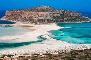 Pláž a laguna Balos