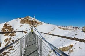 Visutý most pro pěší na Stubnerkogel
