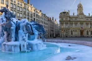 Bartholdiho fontána na Place des Terreaux