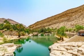 Tůně na koupání Wadi Bani Khalid