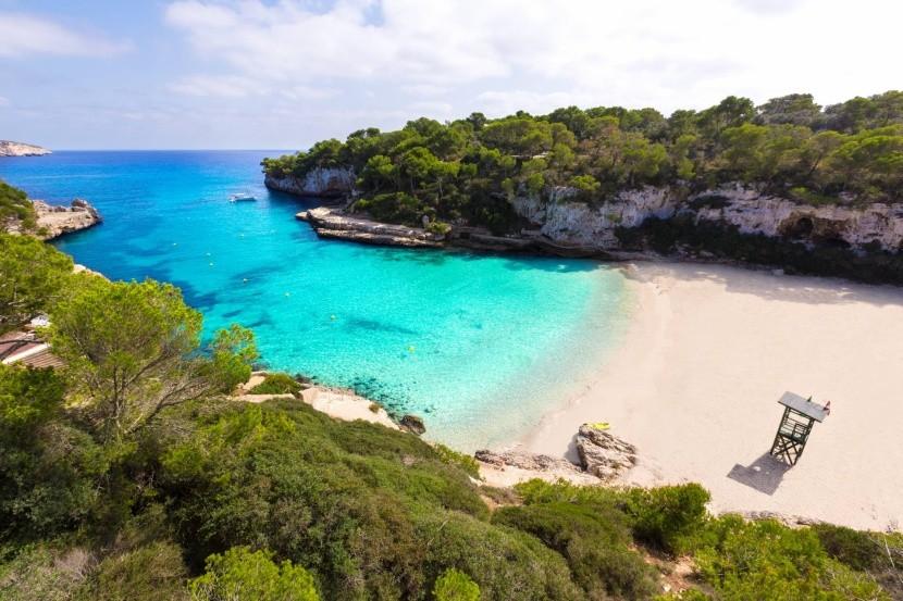 Mallorca Spanyolország homokos tengerpart