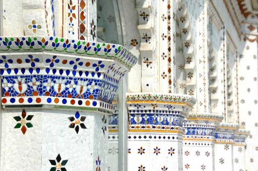 Detail výzdoby Hviezdnej mešity