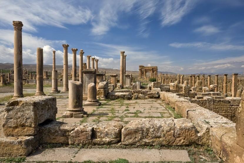 Tímgád Algéria római várostervezés Traianus