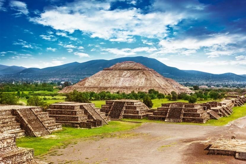 Teotihuacan Mexiko Nap-piramis Hold-piramis