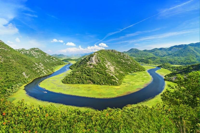 Rieka Crnojevica neďaleko Skadarského jazera