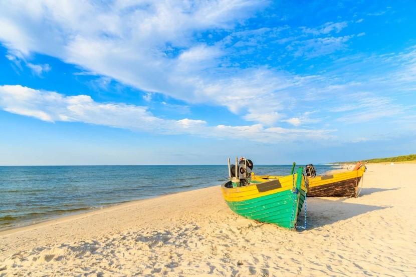 Pláž Debki, Baltské more, Poľsko
