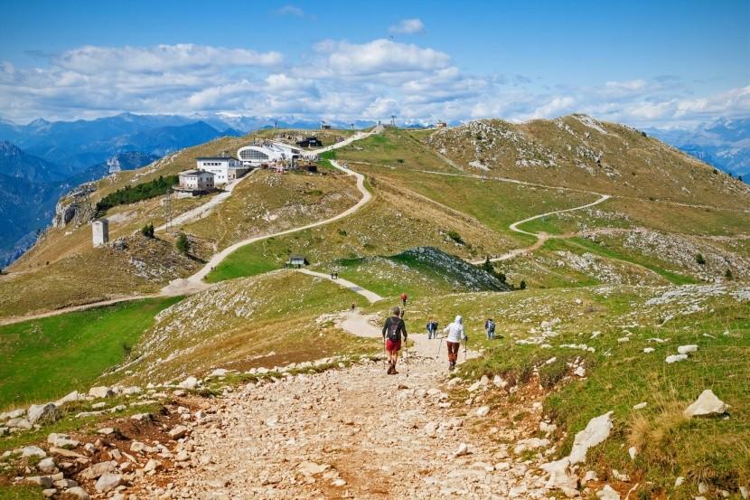 Na vrcholku Monte Baldo, Taliansko