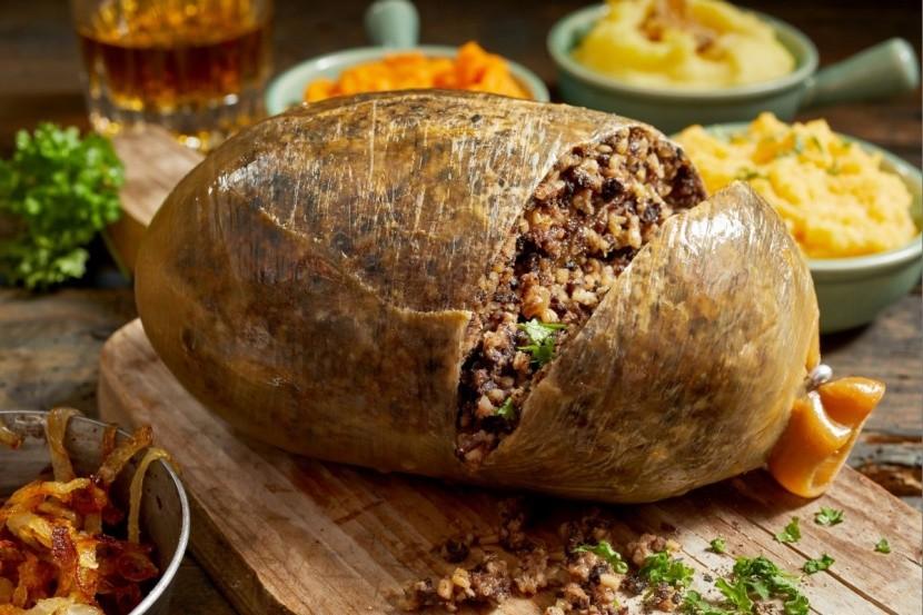 Haggis belsőségek skót nemzeti étel birkaszív