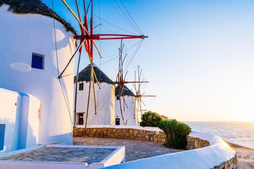 Větrné mlýny na ostrově Mykonos