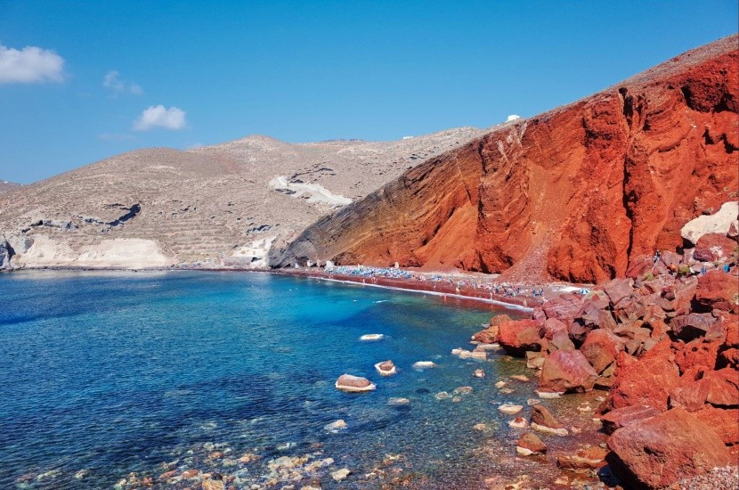 Red Beach, Santorini, Řecko