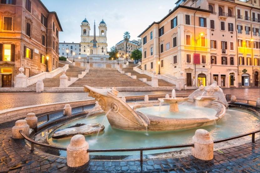 Španělské schody, Řím