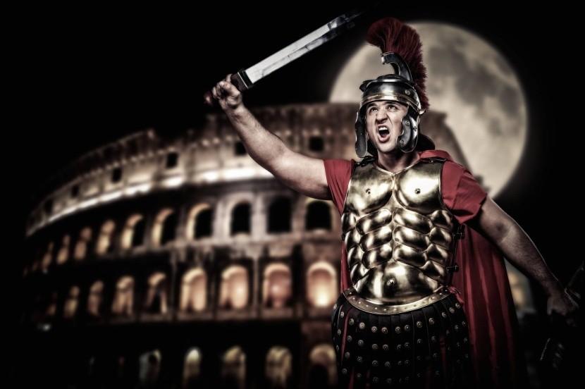 Gladiátor v Koloseu