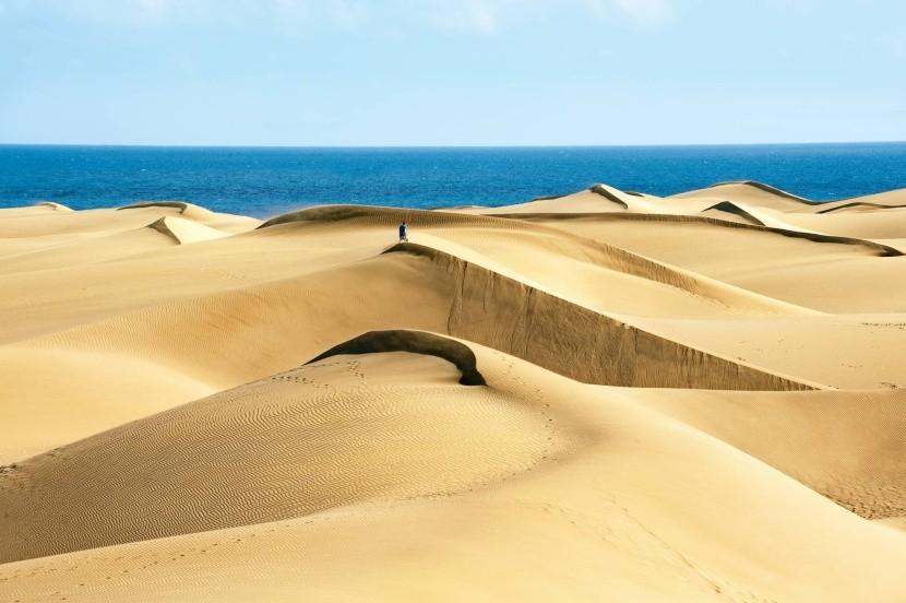 óriás homokdűnék afrikai homok Gran Canaria