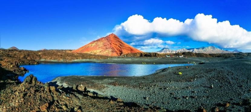 Vulkanická krajina Lanzarote