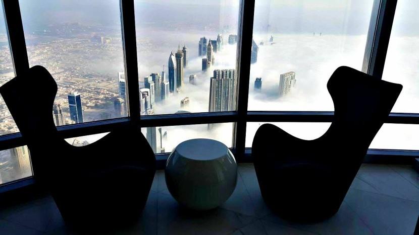 Výhled z hotelu Armani Dubai