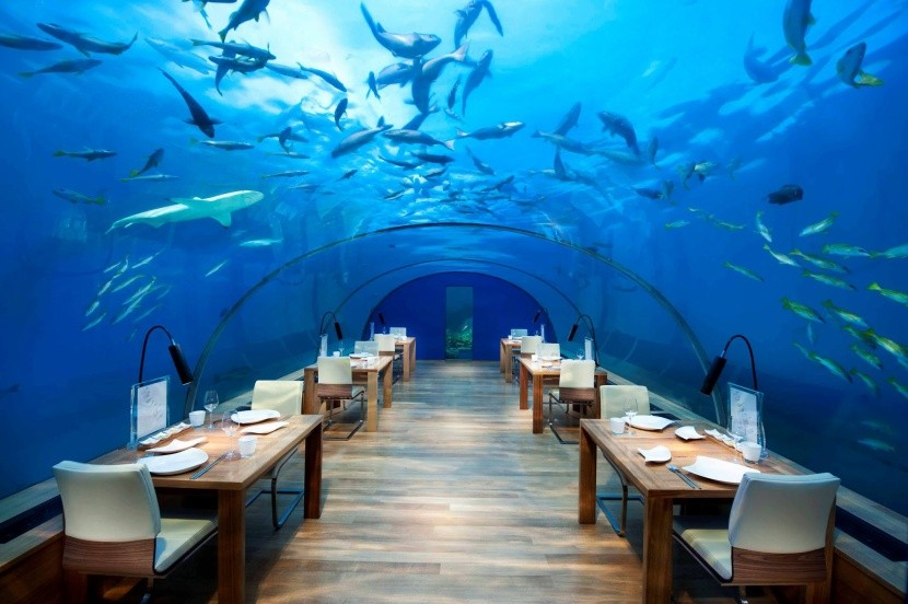 Podmořská restaurace hotelu Conrad Maldives R