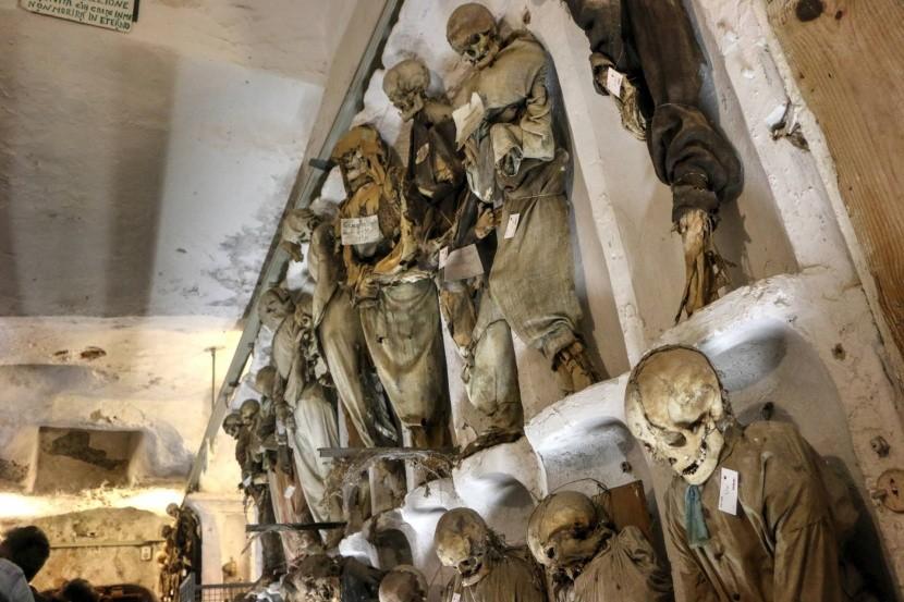 Kapucinus katakombák, Palermo, Olaszország