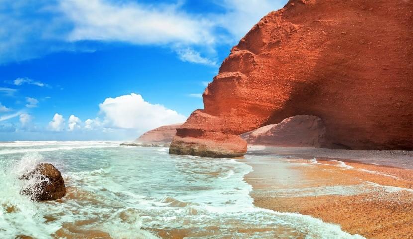 Legzira strand, Marokkó