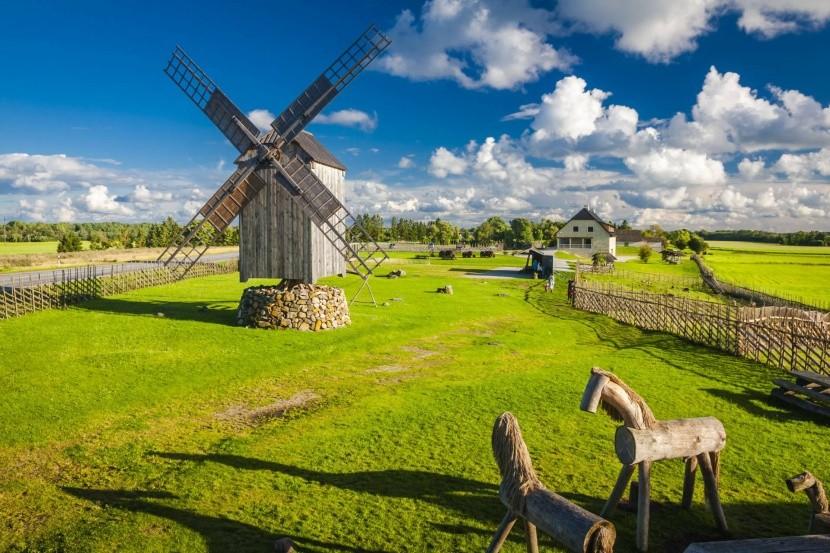 Větrné mlýny jsou symbolem ostrova Saaremaa