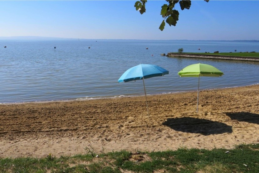 Pláž u jezera Balaton