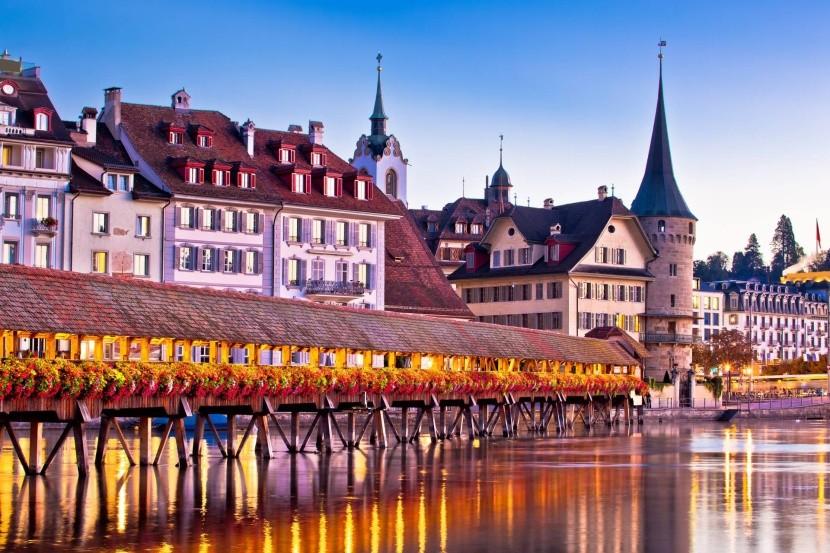 Luzern csodás bevárosa