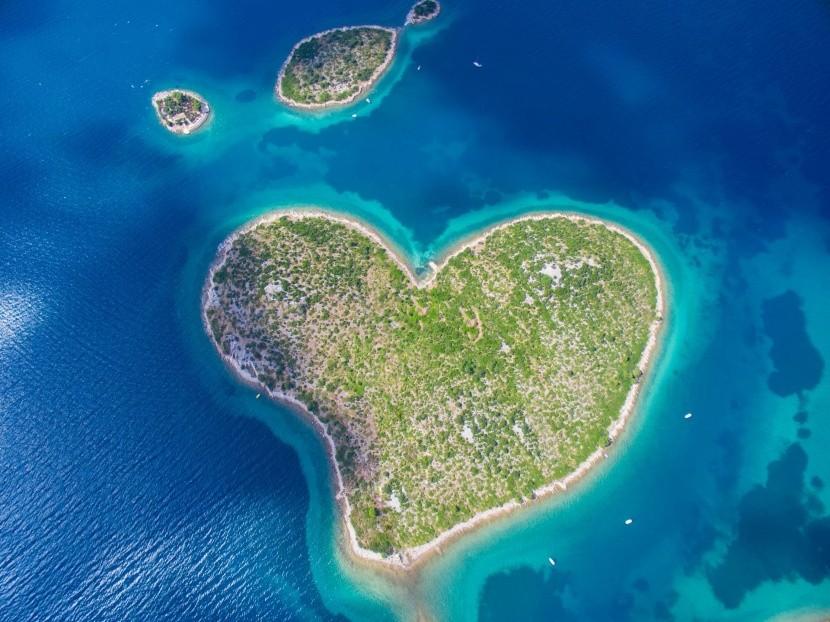 Ostrov Galešnjak v Chorvátsku