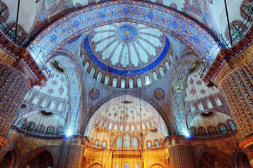 A kék mecset belseje