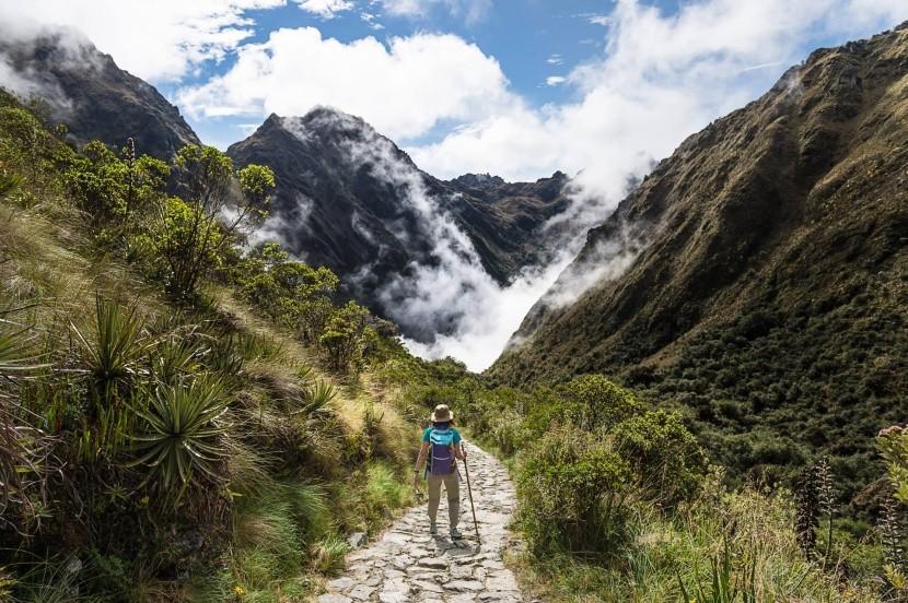 Ősi inka ösvény a Machu Picchuhoz