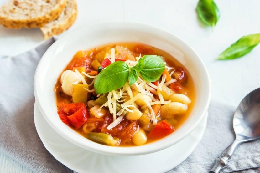 Az olasz minestrone leves