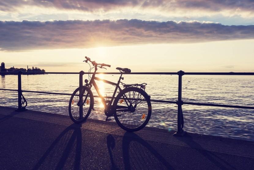 Bodamské jazero na bicykli