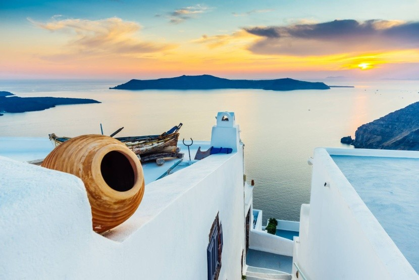 Santorini naplemente