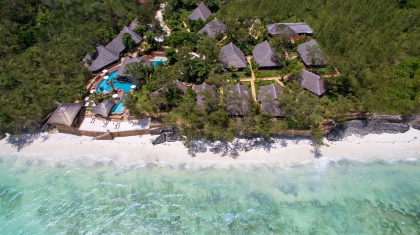Tulia Zanzibar - letecký pohled