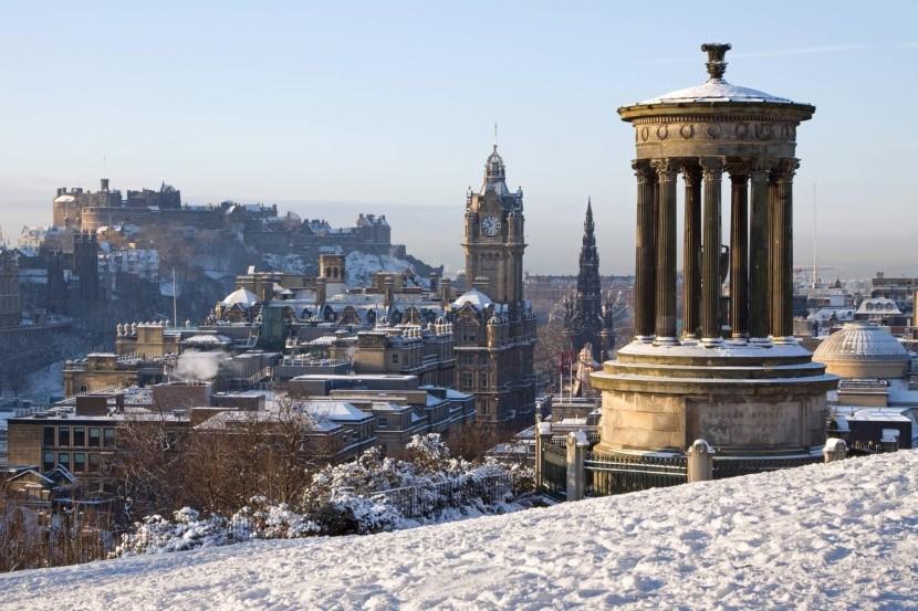 Zimný Edinburgh