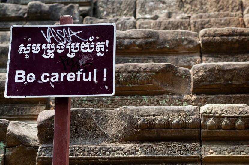 Lépcső Angkorvatban