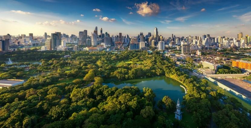 Central Park Bangkoku nazývaný Lumphini