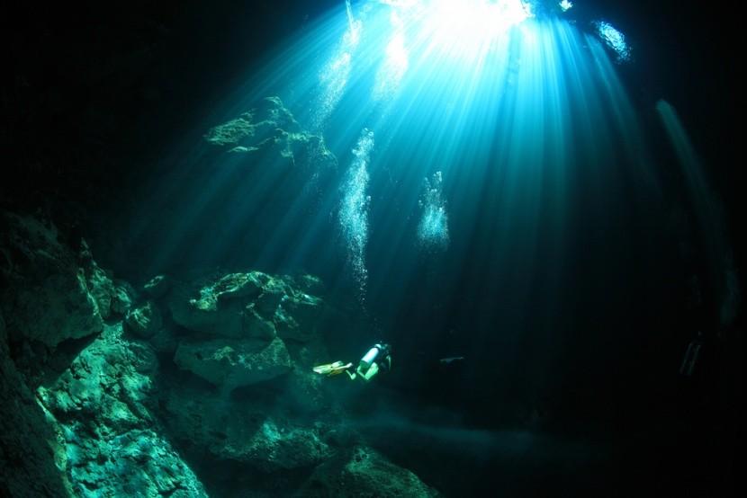 Potápanie v jaskyniach v Mexiku