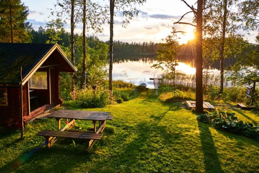 Nemzeti park, erdő és tó Finnországban