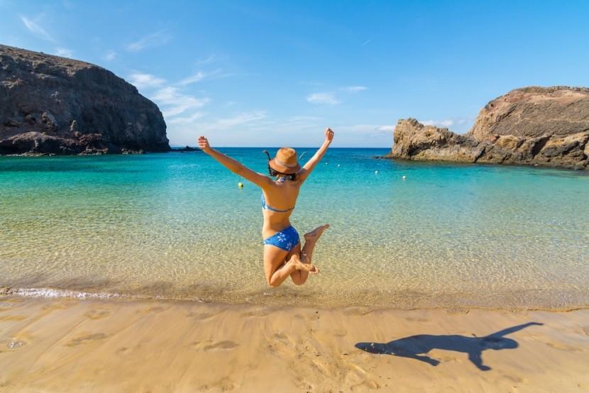 Egzotikus strand a Kanári-szigeteken