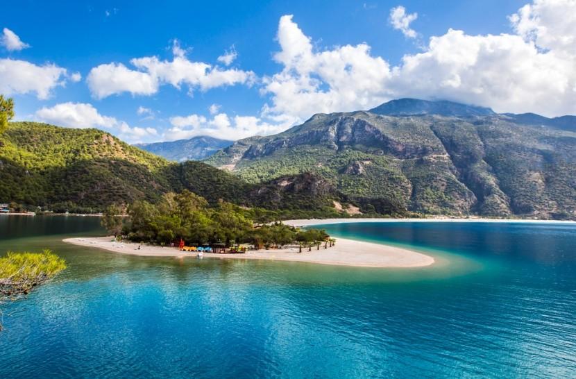 Pláž alias Modrá lagúna v Turecku