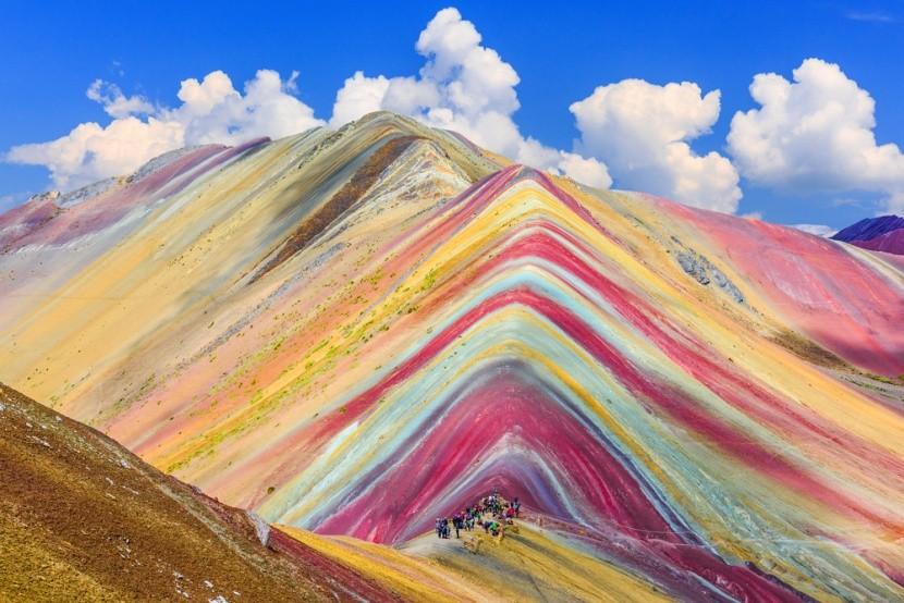 Dúhová hora Vinicunca v Peru
