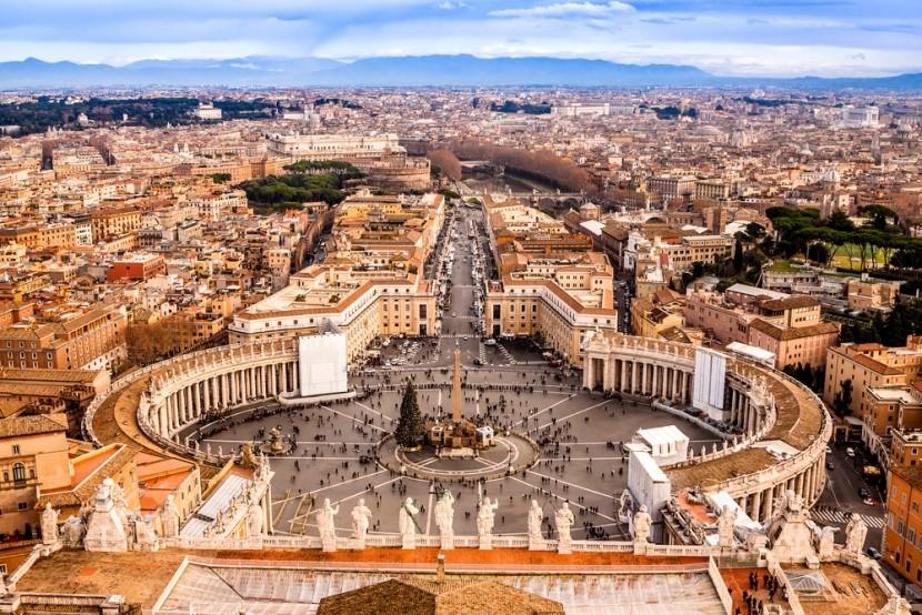 Vatikán z ptačí perspektivy