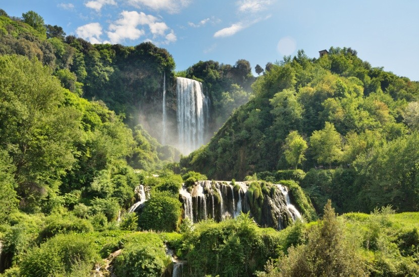 Mramorové vodopády, Itálie