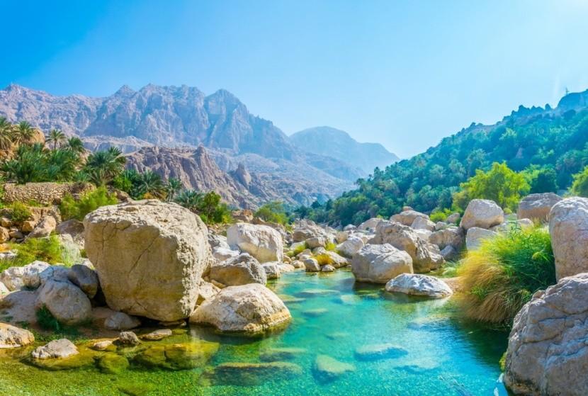 Laguna Wadi Tiwi, Omán