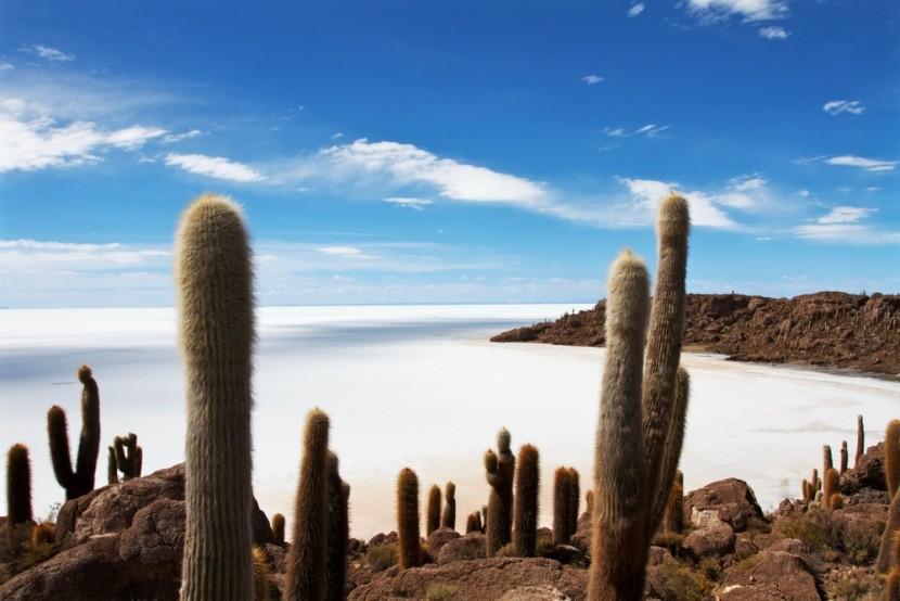 Soľná pláň Salar de Uyuni, Bolívia