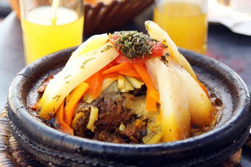 Tajine s jehněčím a zeleninou