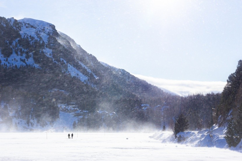 Ausztria, befagyott Turracher See