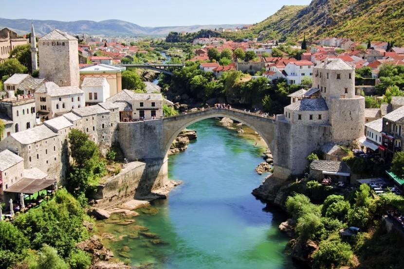 Bosznia-Hercegovina, Mostar, Neretva folyó