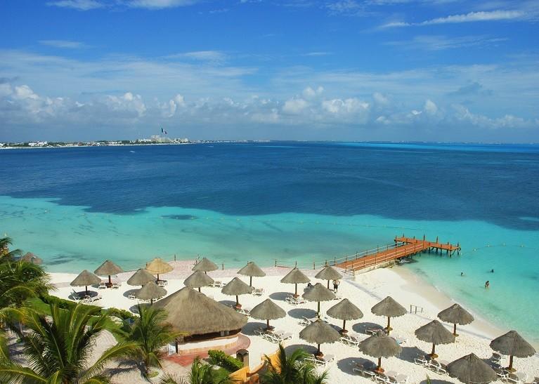 Rajskie plaże w Cancun, Meksyk