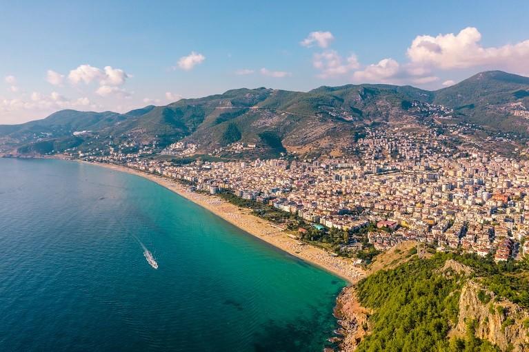 Widok na plażę Kleopatry, Turcja